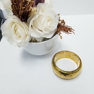 Gold Thick Bangle Bracelet